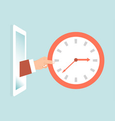 time importance concept bright advertising vector image