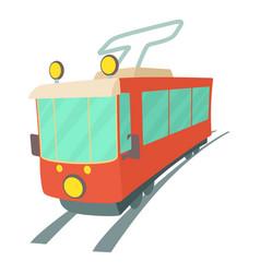 Tram icon cartoon style vector