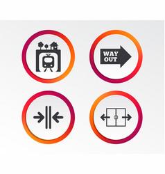 Underground icon automatic door symbol vector