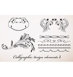 Vintage calligraphic design elements 3 vector
