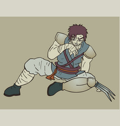 warrior tired vector image