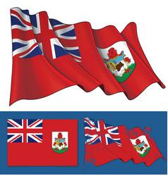 Waving flag bermuda vector