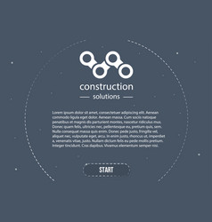 web banner in style business minimalism ready vector image
