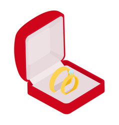 wedding rings engagement symbol gold jewellery vector image