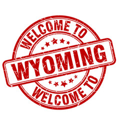 Welcome to wyoming vector