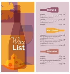 Wine menu list stencil print vector image