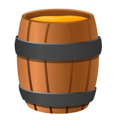 wood honey barrel icon cartoon style vector image