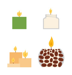 candles romantic wax party decoration vector image
