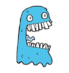 comic cartoon gross ghost vector image