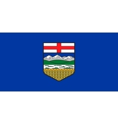Flag of Alberta in correct proportions and colors vector image vector image