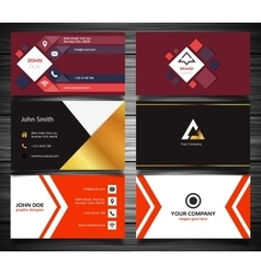 Modern business card set vector image vector image