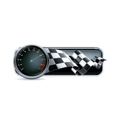 Racing banner with speedometer vector image vector image