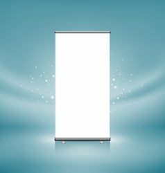 roll up banner display vector image