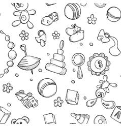 Seamless children background vector image vector image