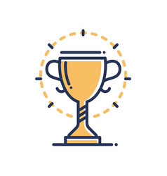 trophy - modern single line icon vector image vector image