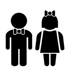 Man and Woman Icons Toilet Sign Restroom Icon vector image vector image