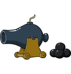 old gun with nuclei vector image vector image