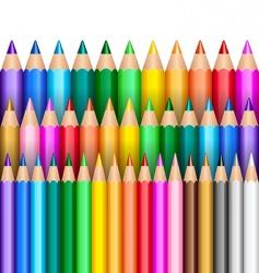 Rainbow pencils vector
