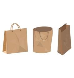 Set of paper bag for food shop and supermarket vector image vector image