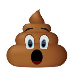 shit icon surprise faces poop emoticon vector image vector image