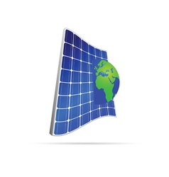 solar panel with earth color vector image