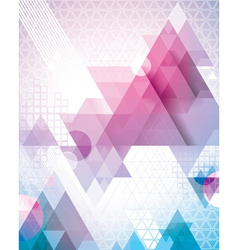 Techno Triangles Magenta vector image vector image