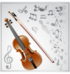 violin musical background vector image