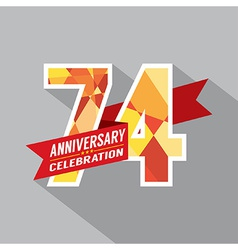74th years anniversary celebration design vector
