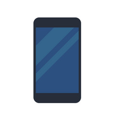 black smartphone display blue device vector image