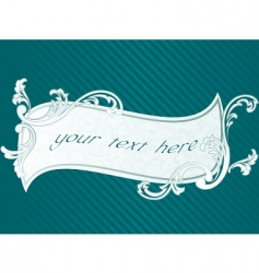French rococo frame vector image vector image