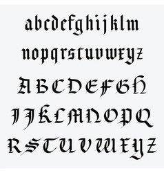 Medieval alphabet vector image vector image