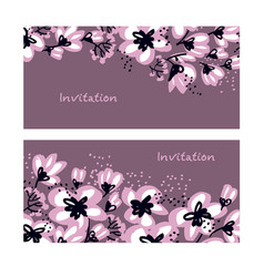 Spring tree blooming design element for print vector