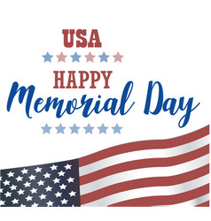 usa memorial day happy memorial day card vector image