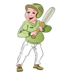 baseball batsman vector image