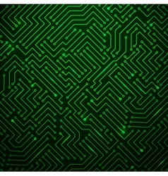 Futuristic Shining Green Technology Backgorund vector image