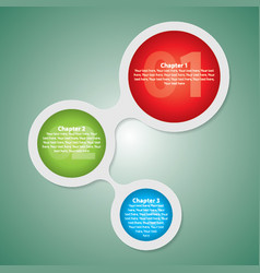 modern circle diagram poster vector image