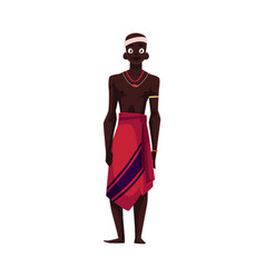 native aborigine from african tribe in loincloth vector image
