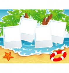 summer beach back vector image vector image
