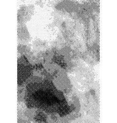 Vintage grunge halftone ink print vertical vector image vector image