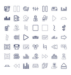 49 player icons vector