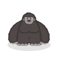 a cute fatty gorilla vector image