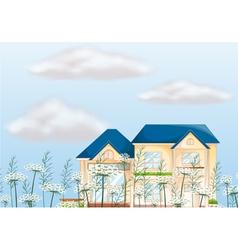 A mansion house vector