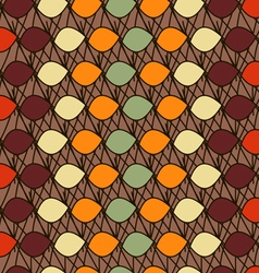 Abstract pattern ovals vector image
