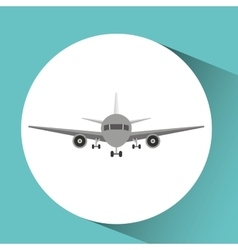 airplane icon design vector image