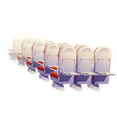 airplane seats rear view economy class chairs vector image