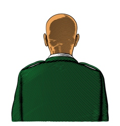 Bald soldier vector