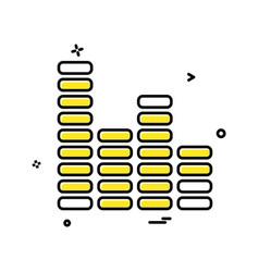 bar graph icon design vector image
