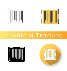 Barcode icon universal product code quality vector