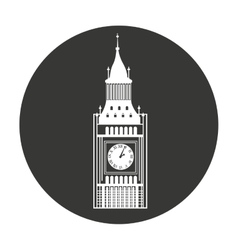 big ben london isolated vector image