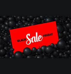 Black friday sale of red card vector
